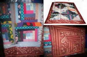 Log Cabin Lap Quilt