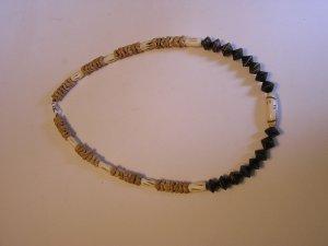 Men's Heishi brown bead, bone, wood Necklace