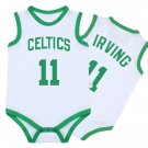 Boston Celtics Kyrie Irving Newborn Baby Bodysuit White Toddler Shirt