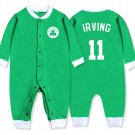 Kyrie Irving Baby Clothes #11 Boston Celtics Toddlier Shirt Long Sleeve Onesie Green