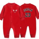 Chicago Bulls #23 Michael Jordan Baby Bodysuit Toddler Onesie Shirt Autum Red