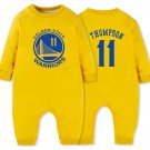 Klay Thompson Golden State Warriors #11  Baby Onesie Fleece Lined Toddler Onesie Yellow