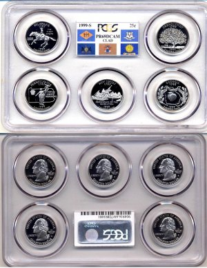 1999-S Clad State Quarter Prof set PCGS PR69DCAM * FREE SHIPPING *