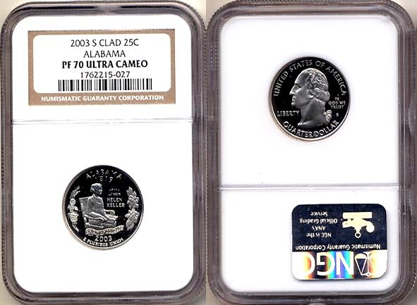 2003 S Clad Alabama State 25ct * NGC PF 70 UCAM * 70 FREE SHIPPING