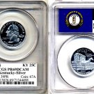 Silver PQ 2001-S Kentucky 25ct PCGS FLAG PR69 DEEP CAMEO * FREE SHIPPING