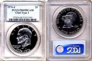Semi Key Coin 1976-S Clad Type 1 PCGS PR69DCAM * Free Shipping *