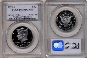 1995-S Kennedy Half Dollar PCGS PR69DCAM * Free Shipping *