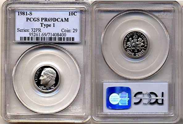 1981-S Type 1 Proof Roosevelt Dime PCGS PR69DCAM * FREE SHIPPING *