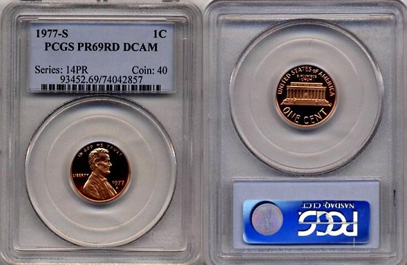 1977-S Lincoln Cent * PCGS PR69DCAM RED* FREE SHIPPING *