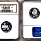 "Silver 2000-S Massachusetts 25ct NGC PF 69 ""W"" UCAM (WHITE) FREE SHIPPING"