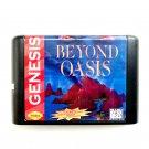 Beyond Oasis 16-Bit Fits Sega Genesis Mega Drive Game Repro