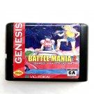 Battle Mania 16-Bit Fits Sega Genesis Mega Drive Game Repro