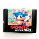 Sonic the Hedgehog 16-Bit Fits Sega Genesis Mega Drive Game Repro