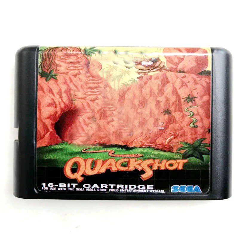 Quack Shot 16-Bit Fits Sega Genesis Mega Drive Game Repro