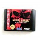 Mortal Kombat 2 Unlimited 16-Bit Fits Sega Genesis Mega Drive Game Repro
