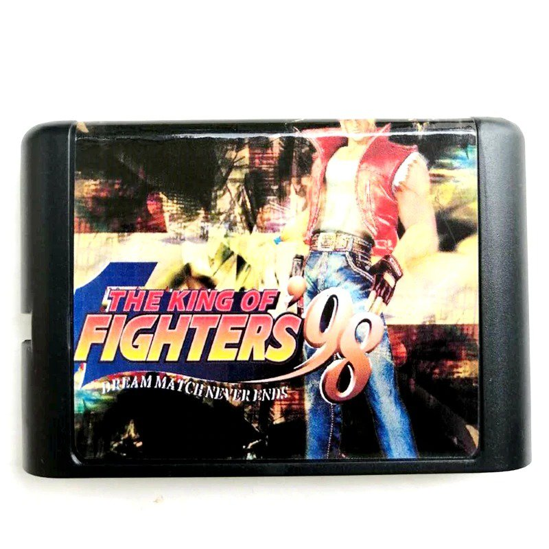 King Of Fighters 98 16-Bit Fits Sega Genesis Mega Drive Game Repro