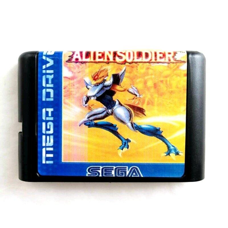 Alien Soldier 16-Bit Fits Sega Genesis Mega Drive Game Repro
