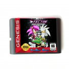 The S Factor Sonic And Silver 16-Bit Fits Sega Genesis Mega Drive Game Repro