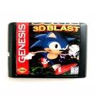 Sonic 3D Blast 16-Bit Fits Sega Genesis Mega Drive Game Repro