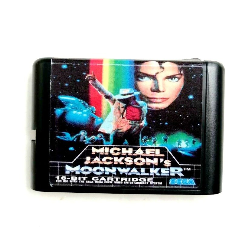 Micheal Jackson Moonwalker 16-Bit Fits Sega Genesis Mega Drive Game Repro