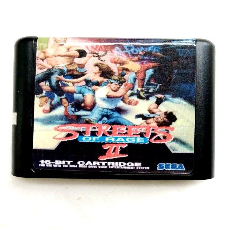 Streets of Rage 2 16-Bit Fits Sega Genesis Mega Drive Game Repro