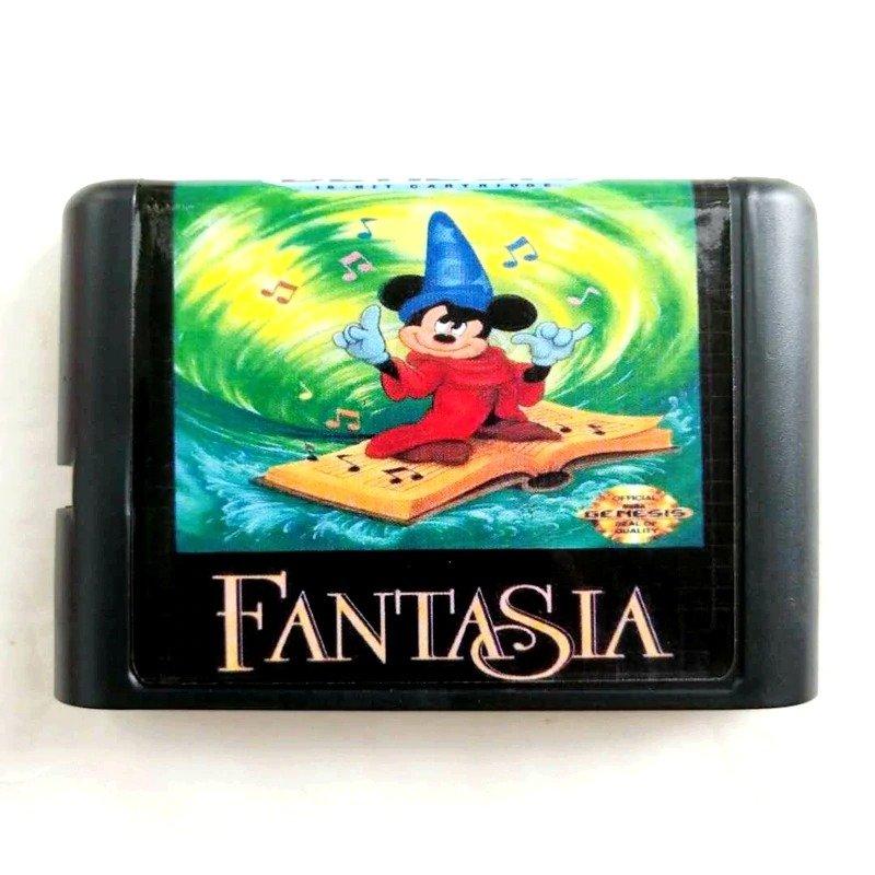 Fantasia 16-Bit Fits Sega Genesis Mega Drive Game Repro