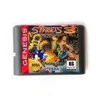Streets Of Rage 3 Sonic Version 16-Bit Fits Sega Genesis Mega Drive Game Repro