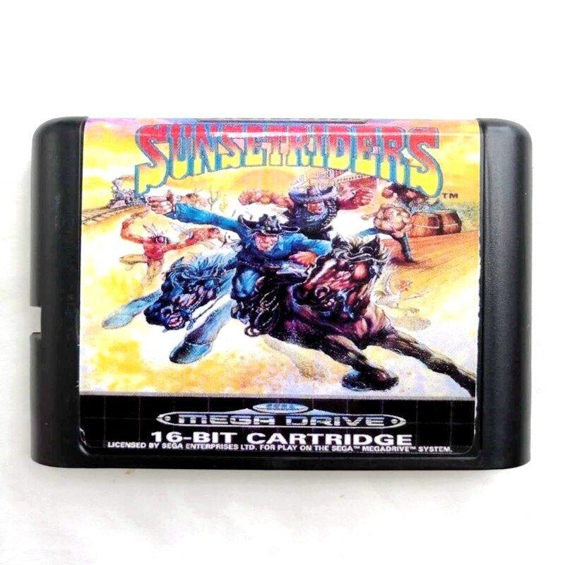 Sunset Riders 16-Bit Fits Sega Genesis Mega Drive Game Repro