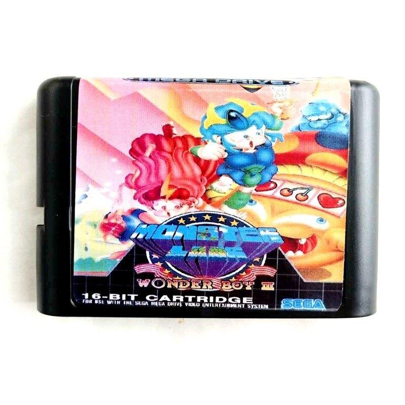 Wonderboy III 3 16-Bit Fits Sega Genesis Mega Drive Game Repro