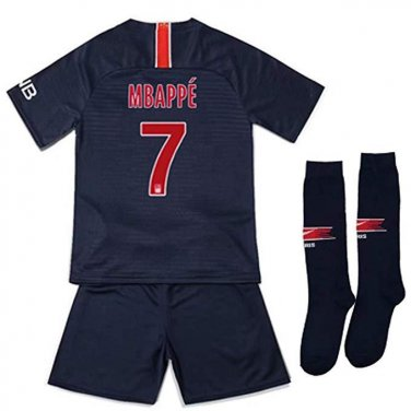 the latest c7474 798e9 Youth Kylian Mbappe Jersey Shorts and Socks Paris Saint ...