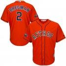 Men's Alex Bregman Jersey Houston Astros 2018 Postseason Home Cool Base – Orange
