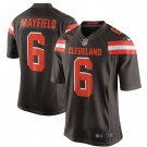 Men's Cleveland Browns Baker Mayfield Nike Brown 2018 NFL Draft First Round Pick Game Jersey