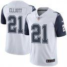 Men's Dallas Cowboys Ezekiel Elliott Nike White Vapor Untouchable Color Rush Limited Player Jersey