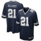 Men's Dallas Cowboys Ezekiel Elliott Nike Navy Game Jersey