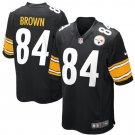 Mens Pittsburgh Steelers Antonio Brown Nike Black Game Jersey