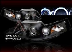 99-04 Ford Mustang LED Halo Projector Headlights