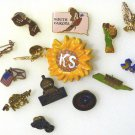 Lot of 14 Hat Pin, Lapel Pin, Misc State, Birds, Just Say No, Liberty, and more