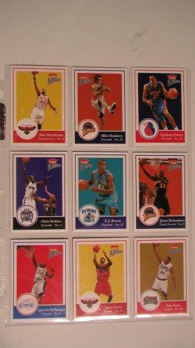 2003-04 FLEER PLATINUM BASKETBALL CARDS - LOT OF 9