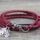Fashion Jewelry Leather Charm Friendship Bracelets & Bangles Feather Bracelet For Women Men