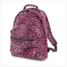 Pink Leopard Print Backpack