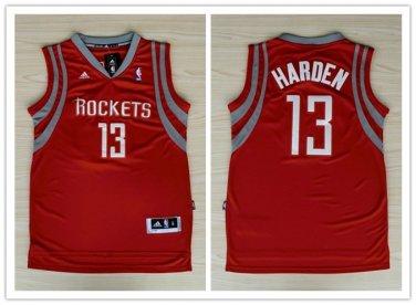 best service 839c0 a7e78 Men's Houston Rockets #13 James Harden Red Stitched Jersey