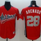 Men's Colorado Rockies #28 Nolan Arenado Red 2018 All-Star Baseball Jersey