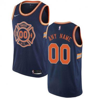 brand new ecf46 66921 Men's New York Knicks City Edition Navy Blue Athletic Custom ...
