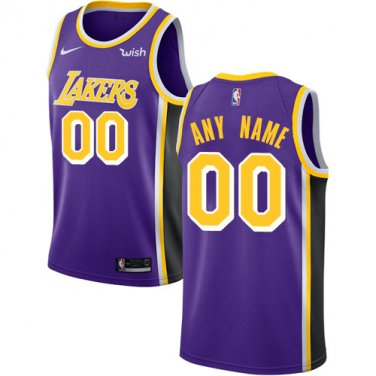 Mens Los Angeles Lakers Personalized Purple Athletic Custom Name ...
