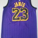 Men's Los Angeles Lakers #23 LeBron James New Purple Basetball