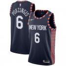 Men's Men's New York Knicks #6 Kristaps Porzingis 18/19 City Edition Navy