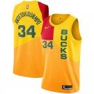 Men's Men's Milwaukee Bucks Giannis Antetokounmpo 18/19 City Edition Yellow