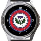 Newmains United Football Club Round Metal Watch