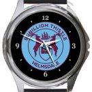 Bunillidh Thistle Football Club Round Metal Watch