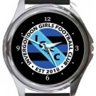 Invergordon Girls Football Club Round Metal Watch